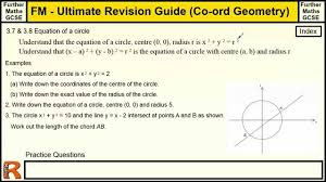 coordinate geometry equations of circles ultimate revision guide circle equation practice problems