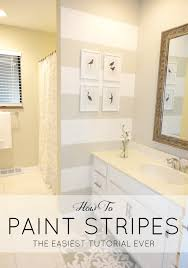 Accent Wall Bathroom Livelovediy How To Paint Stripes The Easiest Tutorial Ever