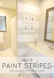 Painting In Bathroom Bathroom Paint Stripe Ideas