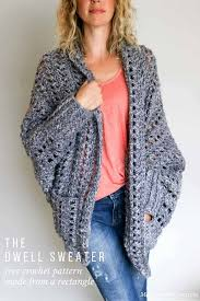 Lion Brand Free Crochet Patterns New Easy Chunky Crochet Sweater Free Pattern Moogly's Finds