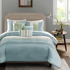 madison park chester green blue 6 piece duvet cover set