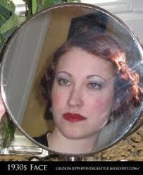 glamourdaze gilded slipper 1930s face