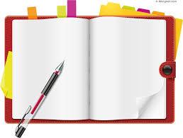 cartoon notebook vector material