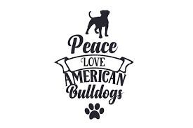 Please use and share these clipart pictures with your friends. Peace Love American Bulldogs Svg Cut File By Creative Fabrica Crafts Creative Fabrica