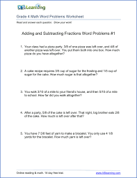 multiplication word problems 1 grade 4 word problems worksheet