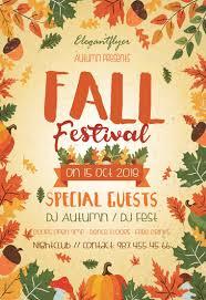 Fall Festival Flier Free Fall Festival Flyer Templates Psd By Elegantflyer