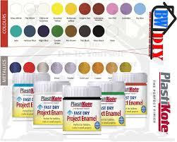 Plastikote Colour Chart Plastikote Fast Dry Enamel Paint 59ml Jar