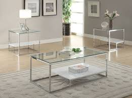 glass and chrome coffee table79