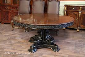 antique dining room table styles 60 inch round walnut pedestal dining table w black and gold