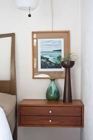 Image of: Floating Bedside Table Corner