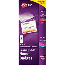 avery nametag wholesale name tags badges by avery discounts on ave74520