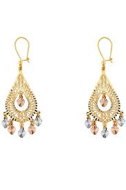 quetzal boutique vintage style chandelier earrings front cropped image