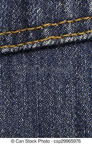 Blue Denim With Stitches Background Dark Blue Denim Background