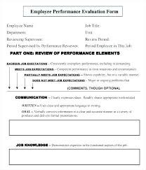 Employee Comments On Performance Evaluation Annual Employee Review Template 6 Month Employment