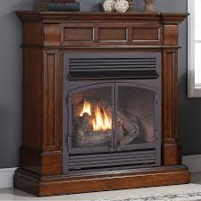 Duluth Forge Ventless Natural Gas Log Set  30 In Stacked Red Oak Ventless Natural Gas Fireplace