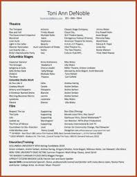 Special Skills Examples Resume Sample Of For Acting 8 Examples Of