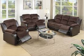 Reclining Living Room Set Broy Chocolate Suede Recliner Sofa