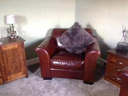leather armchair brown ox blood