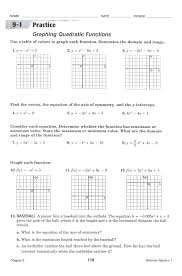 4 2 practice standard form of a quadratic function answers images 4 2 practice standard form