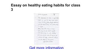 essay on healthy eating habits for class google docs