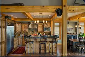 timber frame home interiors. kitchen with timber framing frame home interiors o