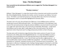 the glass menagerie essay by poetryessay teaching resources tes assessment essay the glass menagerie