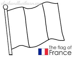 Coloring Page Flag Of France France Flag Coloring Page French
