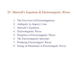 maxwell s equations electromagnetic waves
