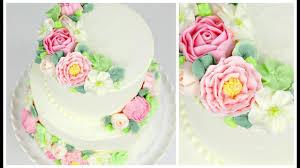 Buttercream Flower Wedding Cake Tutorial Cake Style Youtube