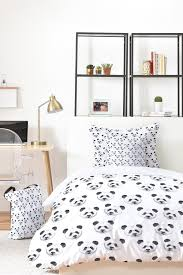 panda party bed in a bag watercolor bedding set by wonder forest