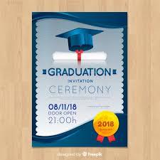 graduation announcements free downloads elegant graduation invitation with realistic design vector free