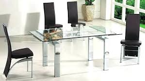 modern glass dining table and chairs extendable glass top dining table modern glass top extendable dining