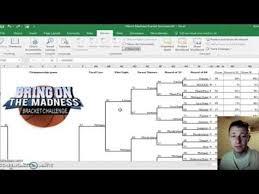 Excel Ncaa Tournament Bracket Ncaa Tournament Bracket Generator Excel Youtube Onewillisfamily Blog