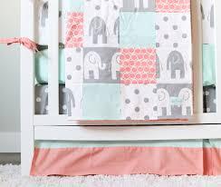 girl baby bedding grey elephant nursery bedding set giggle six baby