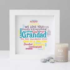 personalised grandad grandpa word art gift
