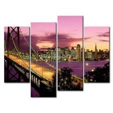 san francisco wall art print on canvas picture more detailed picture about 3 piece wall