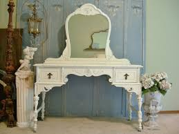 furniture cozy ideas for shabby chic furniture with vintage makeup table and blue wooden background feat blue shabby chic furniture