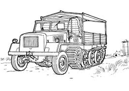 Small Picture US Military Half track coloring page Free Printable Coloring Pages