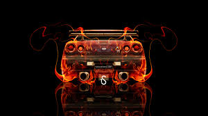 nissan skyline gtr r34 jdm back fire car