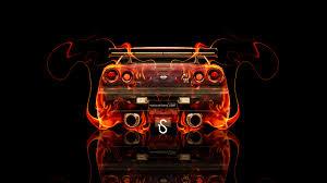 nissan skyline gtr r34 jdm back fire car