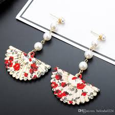 2018 2017 exquisite dangle chandelier earrings fan shaped beautiful special simple fashion various style earrings for girls jewelry 17 from belinda0224