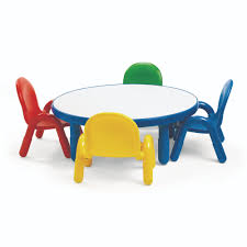 school supply angeles baseline toddler 36 round table and chair set