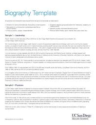 biography template 01 resume bio examples