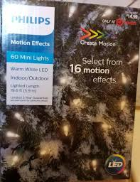 Philips Motion Effects Christmas Lights Philips 60ct Christmas Led 16 Function Smooth Mini Lights Warm White