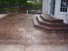 Stamped concrete patio with stairs Residential Steps Idea Patio Step Concrete Patios Dream Homes Patio Ideas Pinterest 22 Best Stamped Concrete Patio Ideas Images Backyard Patio Patio