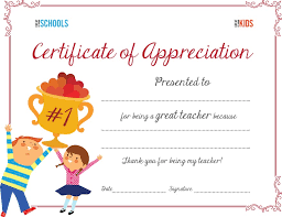 parenting certificate templates teacher appreciation certificate parenting