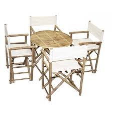 4 director s chair and round table set