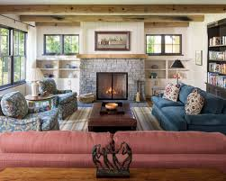 Farmhouse Formal Dark Wood Floor And Brown Floor Living Room Idea In  Minneapolis With White Walls