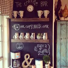 Kitchen Chalkboard With Shelf Create A Diy Coffee Bar With Pallet Shelves And A Chalkboard Wall