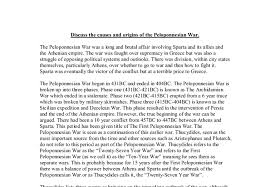 discuss the causes and origins of the peloponnesian war a level  document image preview